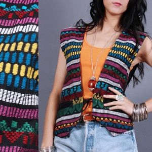 L/XL Vintage 90s Festival Vest * $ FIRM *